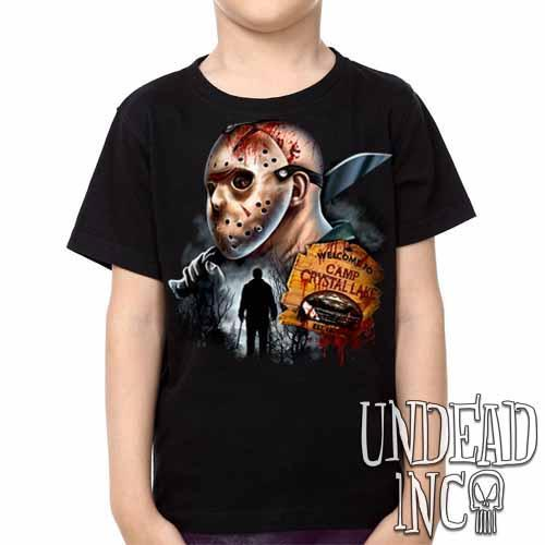 Jason Voorhees Camp Crystal Lake -  Kids Unisex Girls and Boys T shirt Clothing