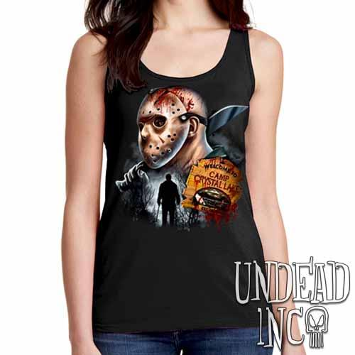 Jason Voorhees Camp Crystal Lake - Ladies Singlet Tank