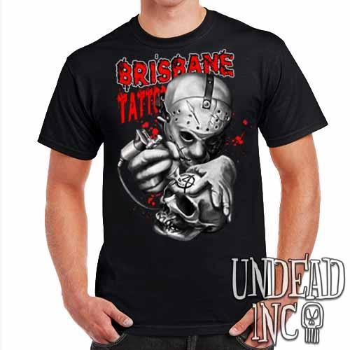 Jason Voorhees Brisbane Tattoo - Mens T Shirt - Undead Inc ,