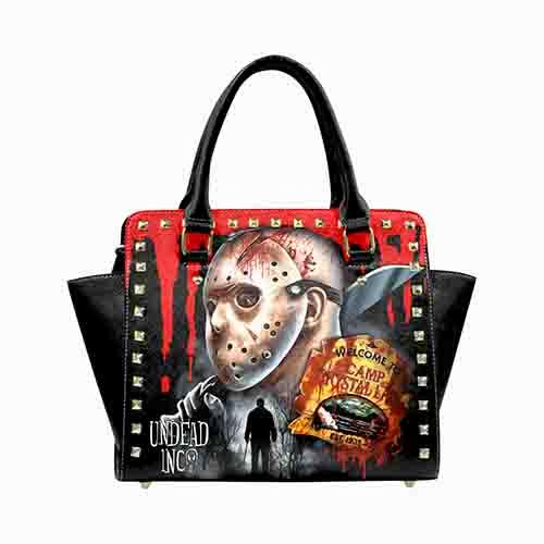 Jason Voorhees Camp Crystal Lake Premium Undead Inc PU Leather Stud Detail Shoulder / Hand Bag