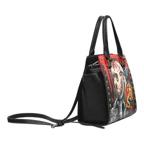 Jason Voorhees Camp Crystal Lake Premium Undead Inc PU Leather Stud Detail Shoulder / Hand Bag Shoulder Handbags Undead Inc