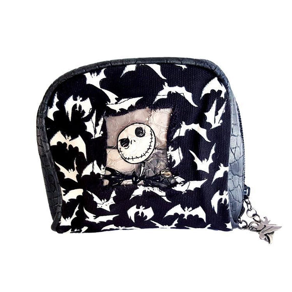 Nightmare Before Christmas Jack Skellington Makeup Cosmetics Bag