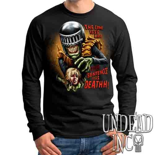 Judge Death - The Crime is Life 2000 ad Dredd - Mens Long Sleeve Tee