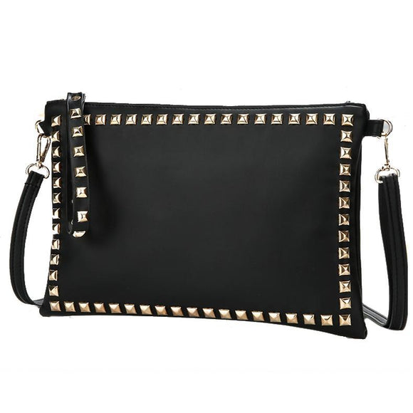 Punk Gold Rivet Bag With Removable Strap