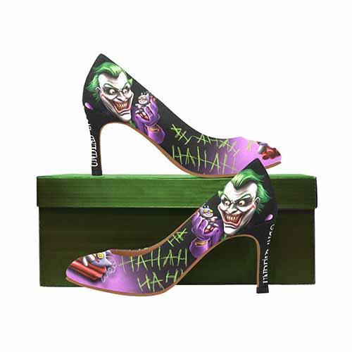 Joker Bat Bomb MEDIUM High Heels - Undead Inc High Heels,