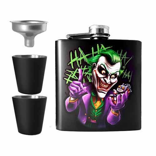 Joker Undead Inc Hip Flask Set