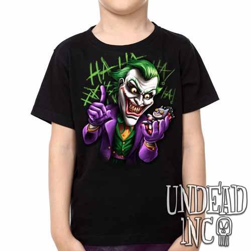 Joker Bat Bomb - Kids Unisex Girls and Boys T shirt Clothing - Undead Inc ,