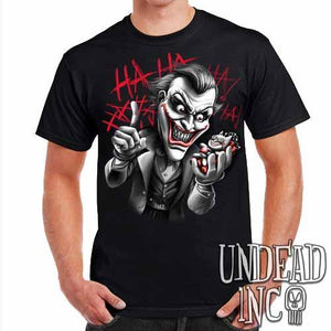 Joker Bat Bomb - Mens T Shirt Black Grey - Undead Inc ,
