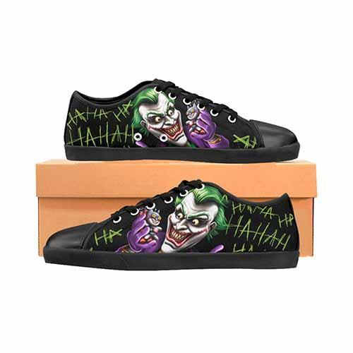Joker Bat Bomb Men's Canvas Shoes