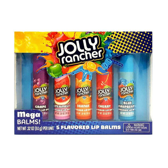 Candy Flavoured Jolly Rancher MEGA SIZE Balm Lip Balms - 5 Pack - Undead Inc Lip Balm,
