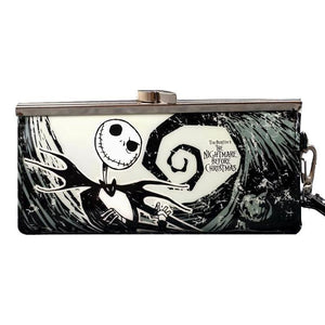 Nightmare Before Christmas Spiral Hill Clasp Clutch Purse
