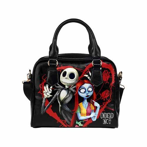 Undead Inc Nightmare Before Christmas Jack & Sally Shoulder / Hand Bag