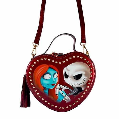 Jack & Sally Halloween Heart Undead Inc Shoulder Bag / Handbag With Removable Strap