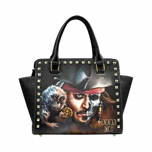 Undead Inc Pirates Of The Caribbean Jack Sparrow Premium PU Leather Shoulder / Hand Bag