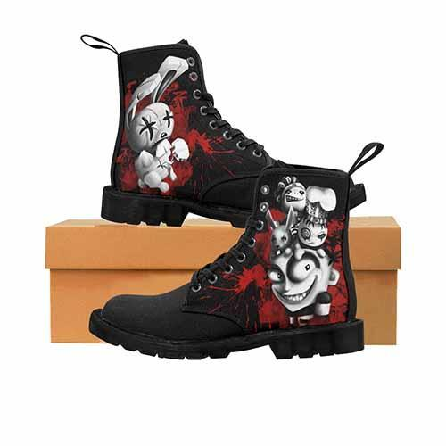 JTHM Nail Bunny Johnny The Homicidal Maniac MENS Martin Boots