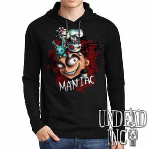 "JTHM ""Maniac"" - Mens Long Sleeve Hooded Shirt"