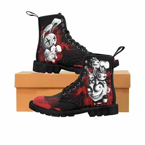JTHM Nail Bunny Johnny The Homicidal Maniac MENS Martin Boots - Blood Bath Variant