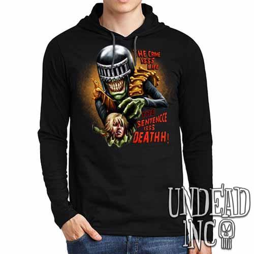 Judge Death - The Crime is Life 2000 ad Dredd - Mens Long Sleeve Hooded Shirt