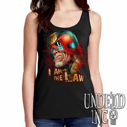 Judge Dredd I AM THE LAW - Ladies Singlet Tank
