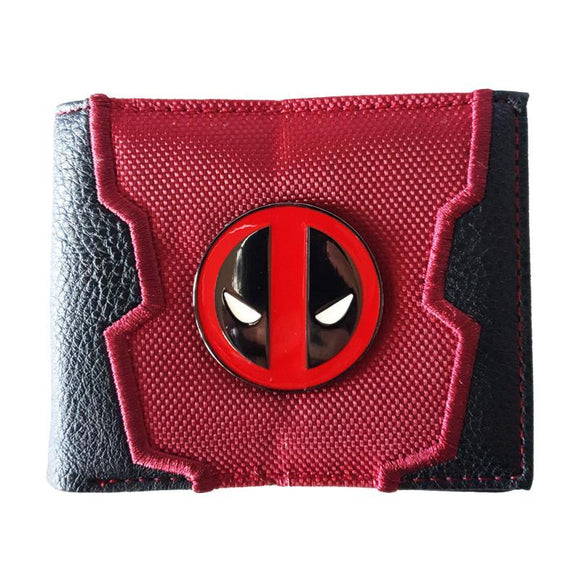 Deadpool Pu Leather Metal Logo Wallet