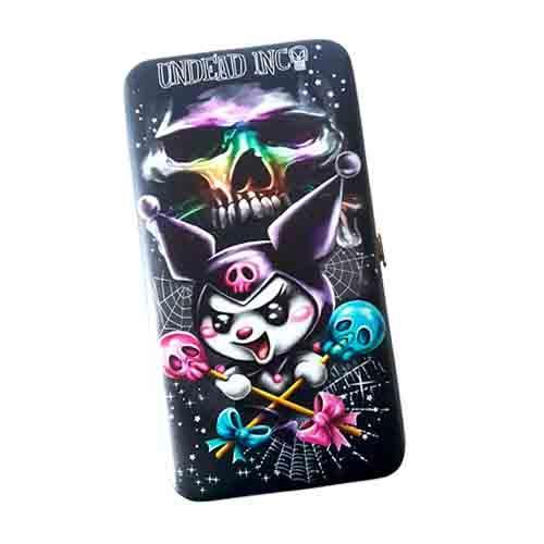 Kuromi Skull Pop Undead Inc Hinge Long Line Wallet