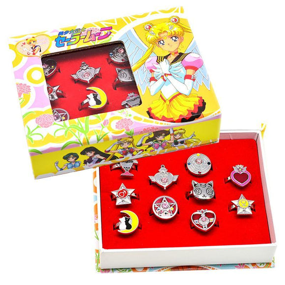 Sailor Moon Ring Set Of 10
