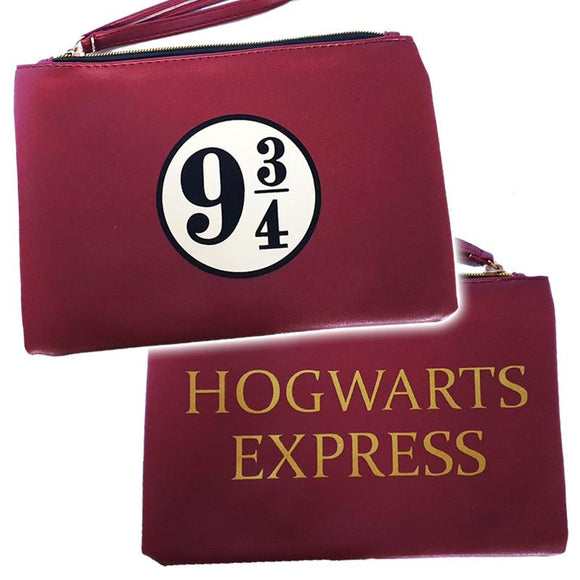 Harry Potter Hogwarts Express PU Leather Makeup Cosmetics Bag
