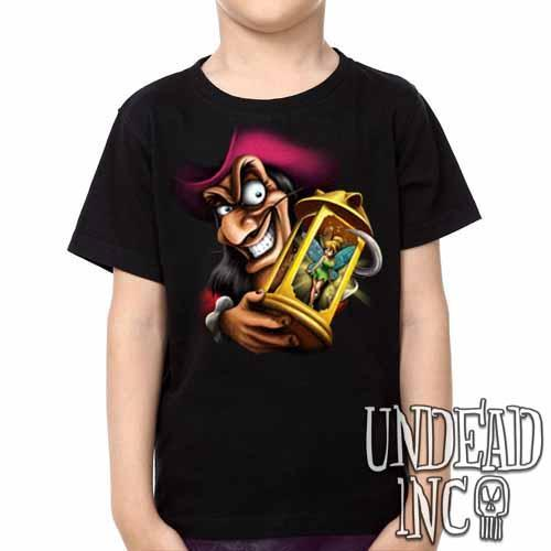 Tinkerbell and Captain Hook - Kids Unisex Girls and Boys T shirt Clothing