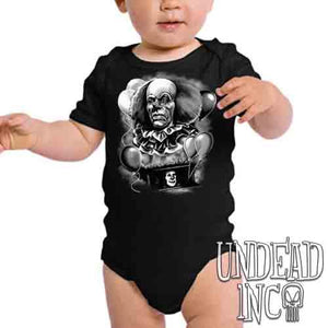 IT Pennywise 1990  Black & Grey- Infant Onesie Romper