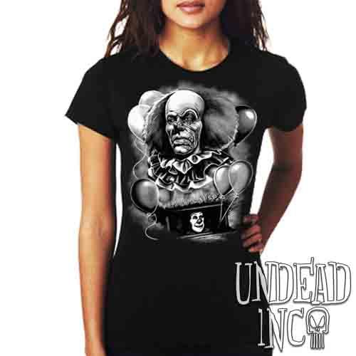 IT Pennywise 1990 Black & Grey - Ladies T Shirt Ladies T-shirts Undead Inc