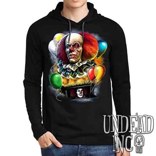 IT Pennywise 1990 - Mens Long Sleeve Hooded Shirt