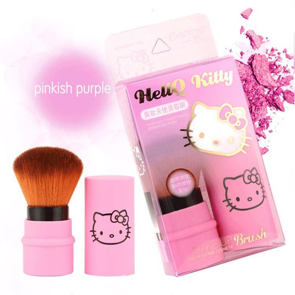 Hello Kitty Magenta Portable Retractable Makeup Brush - Undead Inc Makeup Brushes,