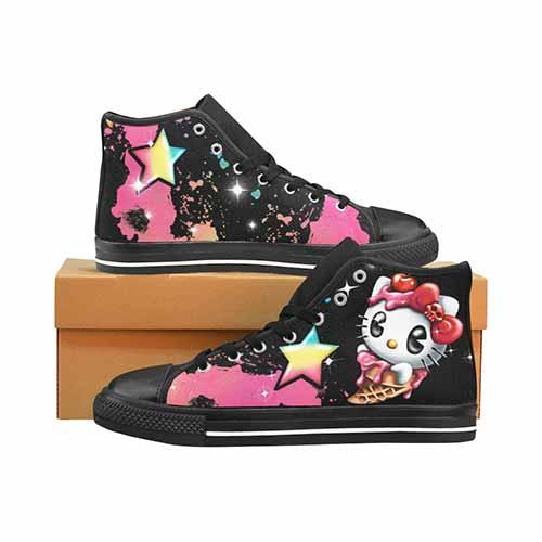 Hello Kitty Men's Classic High Top Canvas Shoes - Undead Inc Men's High Top Canvas,