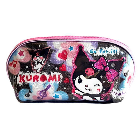 Hello Kitty Sanrio Kuromi Glitter Sparkle Makeup Cosmetics Bag