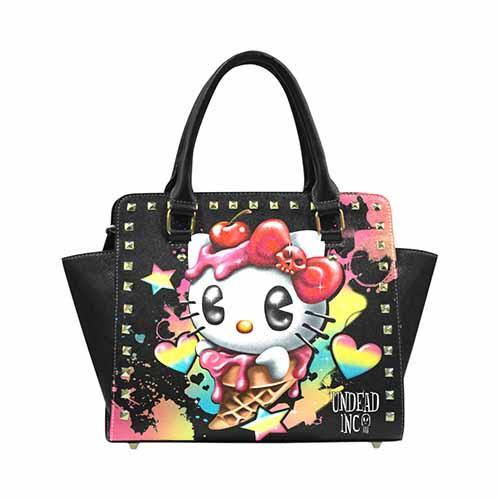 Undead Inc Hello Kitty Ice Cream Premium PU Leather Shoulder / Hand Bag