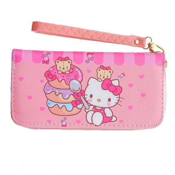 Hello Kitty Cake Long Line Wallet Purse