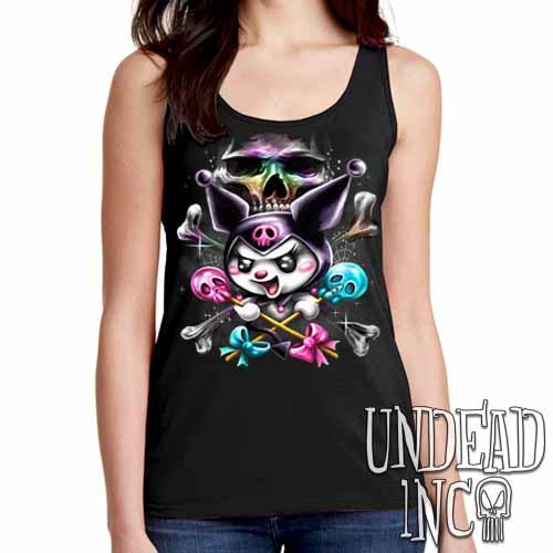 Kuromi Skull Pop Crossbones - Ladies Singlet Tank