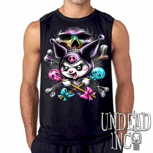 Kuromi Skull Pop Crossbones Mens Sleeveless Shirt