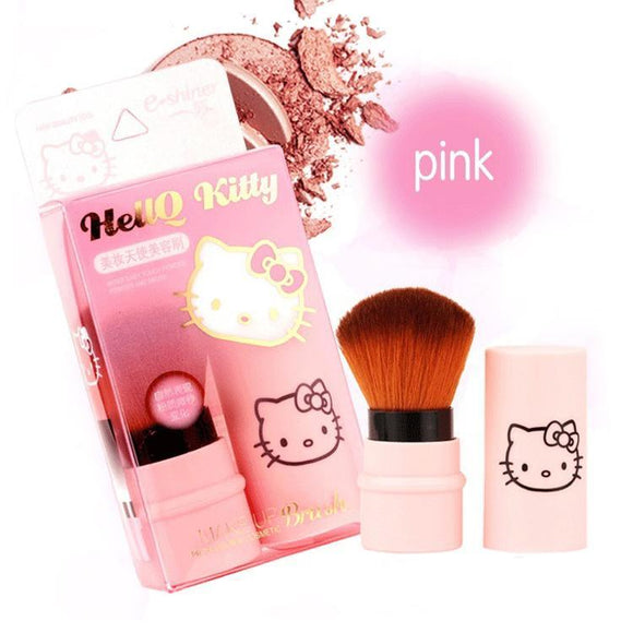 Hello Kitty Baby Pink Portable Retractable Makeup Brush - Undead Inc Makeup Brushes,