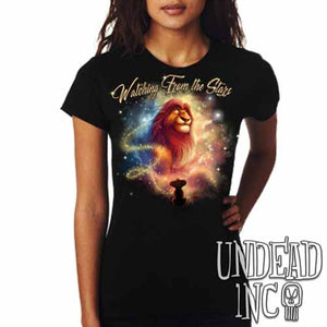 "Lion King Mufasa ""Watching from the Stars"" - Ladies T Shirt"