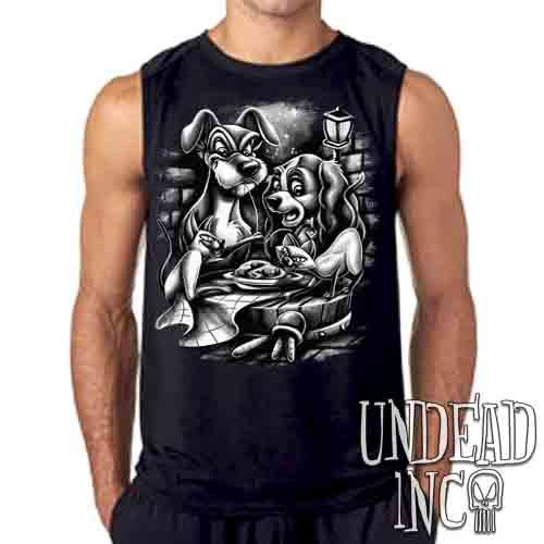 Lady & The Tramp Siamese Catastrophe  Black & Grey - Mens Sleeveless Shirt