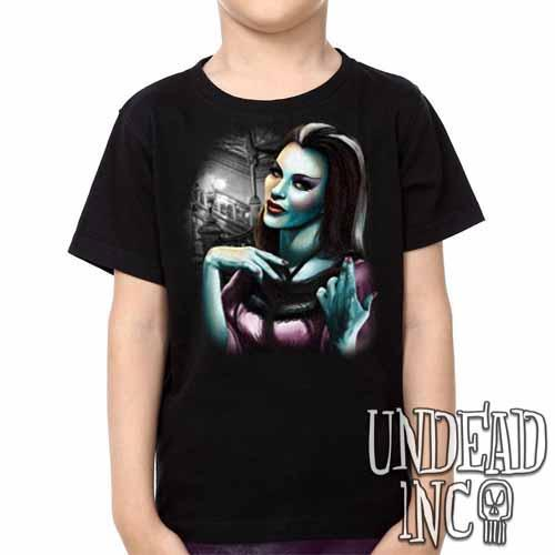Lilly Munster -  Kids Unisex Girls and Boys T shirt Clothing