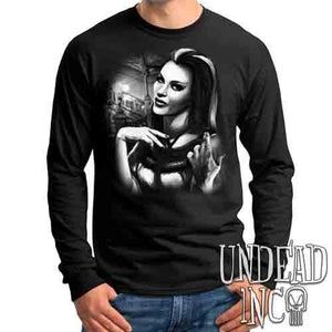 Lilly Munster Black & Grey - Mens Long Sleeve Tee