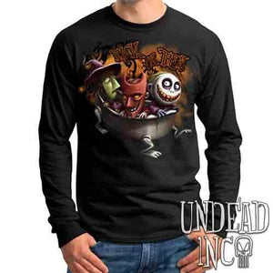 Nightmare Before Christmas Lock Shock Barrel Trick or Treat - Mens Long Sleeve Tee