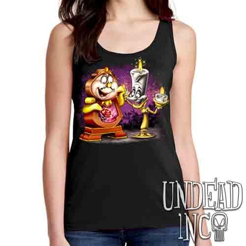 Cogsworth & Lumiere Enchanted - Ladies Singlet Tank