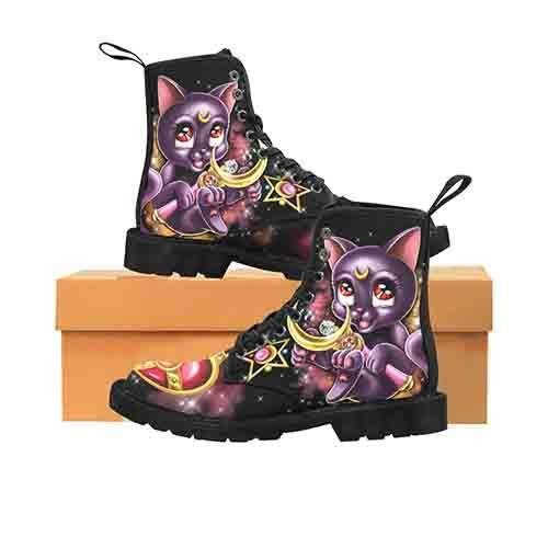 Sailor Moon Luna MENS Martin Boots