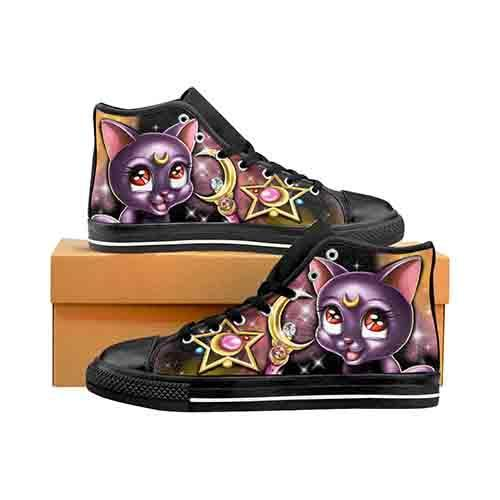 Sailor Moon Luna Men's Classic High Top Canvas Shoes