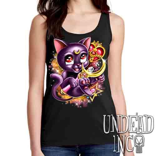 Sailor Moon Luna Crescent Moon Wand - Ladies Singlet Tank