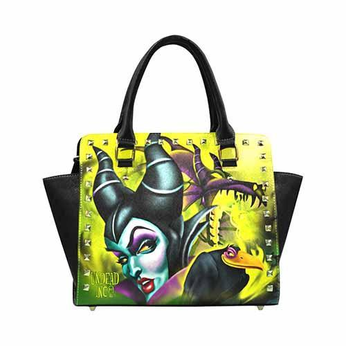 Undead Inc - Maleficent Villains Premium PU Leather Stud Detail Shoulder / Hand Bag