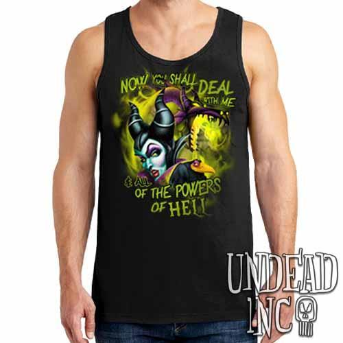 Villains Maleficent - All the Powers of Hell - Mens Tank Singlet Mens Tanks Undead Inc